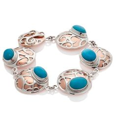 Jay King Turquoise and Sterling Cut-Out Bracelet