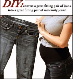 Detailed tutorial on how to convert regular jeans into maternity jeans!