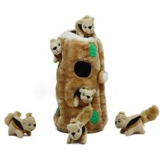squirrel plush dog stimulating toy