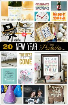DIY Coolest NYE ideas for New Year Eve Party that are easy, affordable and fun. These ideas include sparkle, glitter, lights and festive DIY party projects. Holiday Party Themes, Nye Party, Party Time, Happy New Year 2014, Happy Year, New Years Eve Day, New Years Party, Dating Divas, New Year Printables