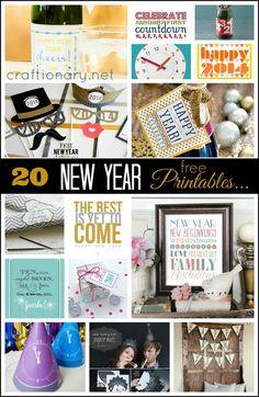New Years printables #printables #newyear #newyearseve