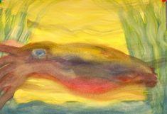 Waldorf ~ 4th grade ~ Human & Animal ~ Cuttlefish - watercolor painting