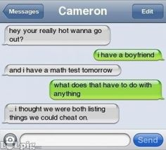 flirting via text cheating Text flirting: the art of flirting via text messages feb 23, 2011 by jessica padykula jessica padykula is a freelance writer and editor in toronto, canada covering.