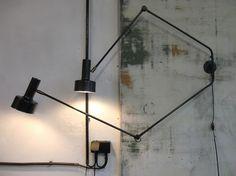 WO AND WÉ COLLECTION: Lampe potence double bras pivotant articulés