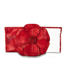 Take a look at this Red & White Natalie Clutch by Adam Alexis on #zulily today! $60 !!
