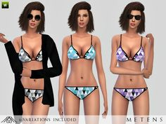 Triangle Bikini by Metens at TSR via Sims 4 Updates