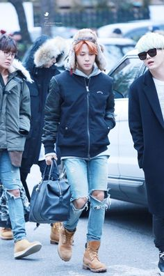 ALL FOR BTS : Photo | Whenever I see a picture of Jimin walking I imagine that he's doing so in slow motion... He seems like he would be the guy in the movies to walk in slow motion toward his love... -@BeautyandthePoet