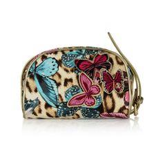 Roberto Cavalli Girls Butterfly & Leopard Print Shoulder Bag