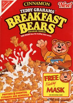 Teddy Grahams Breakfast Bears Cereal 26 Cereals From The You'll Never Be Able To Eat Again Retro Recipes, Vintage Recipes, Kids Cereal, Cereal Boxes, Discontinued Food, 90s Food, Cereal Packaging, Photographie Indie, Teddy Grahams