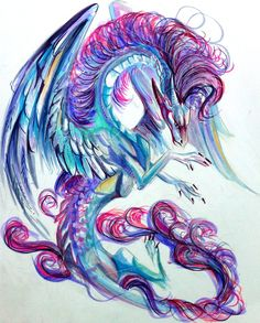 Pretty Dragon is pretty. For Sale. $35 Contact me for information. Commissions are open