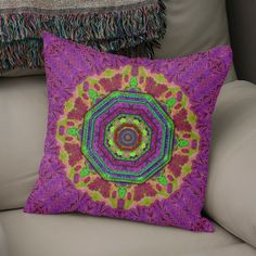 Discover «Mandala in heavy metal lace and forks», Numbered Edition Throw Pillow by Pepita Selles - From $27 - Curioos