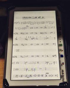 #hallelujah #i #love #her #so #raycharles #jazz #soul #tablet #sheet #sheetmusic #music #study #standard #blues #guitar by fla_telecaster