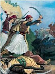 Anagnostaras, a hero of the Greek War of Independence Greek History, World History, Greek Independence, Greek Warrior, Greek Culture, Byzantine Art, Virtual Art, In Ancient Times, Military Art