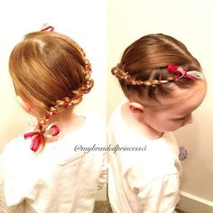 """2 strand ribbon braid, I remember seeing @jfebraids had the start in a bow and also saw it on Pinterest so thought I'd start it as a bow instead of…"""