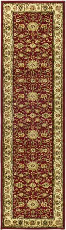 Safavieh LNH212F Lyndhurst Red and Ivory Power Loomed Polypropylene Traditional 2 x 8 Home Decor Rugs Rugs