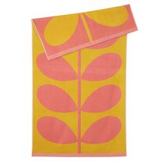 Orla Kiely: Our fun stem jacquard beach towels are an essential for any trip to the beach!