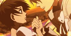Haruhi and Tamaki. Ouran High School Host Club. EEE! Love this moment.