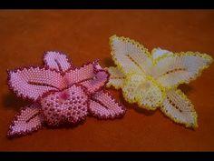 Цветы из бисера. Орхидея из бисера. Бисероплетение. Мастер класс. Часть 1 - YouTube