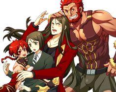 Fate/Zero; Fate/Grand Order; Waver Velvet; Iskandar; Lord El-Melloi II; Alexandra