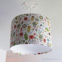 Ohoh Blog - diy and crafts: DIY Lampshade / Pantalla