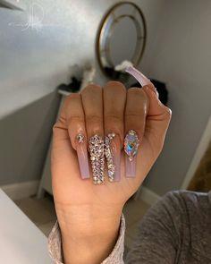 - Best ideas for decoration and makeup - Drip Nails, Bling Acrylic Nails, Aycrlic Nails, Glam Nails, Best Acrylic Nails, Bling Nails, Cute Nails, Pretty Nails, Pastel Nails