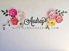 See more like these at Mi Prima Belle on Etsy! Our paper flowers are all custom made! Let's chat today about colors you need to match the bedding or rug or curtains, and also the flower styles you want! Visit our Etsy shop today!