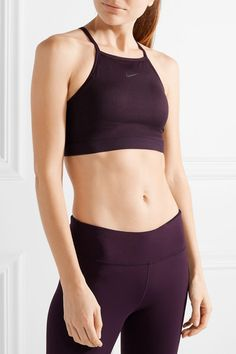 Grape stretch-polyester and mesh  Slips on 88% recycled polyester, 12% spandex; trim: 81% nylon, 19% spandex; lining1: 81% nylon, 19% spandex; lining2: 88% recycled polyester, 12% spandex; lining3: 80% polyester, 20% spandex, padding: 100% polyurethane Machine wash Designer color: Port Wine Imported