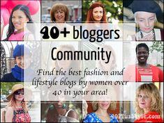 Discover the thriving 40+ bloggers community with more than 450 bloggers and the 40+ Style stars! | 40plusstyle.com