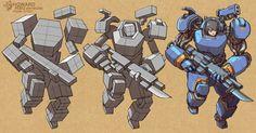 ArtStation - Cyborg - form study, Howard Hsu Robot Concept Art, Armor Concept, Character Concept, Character Art, Star Wars Bb8, Robots Drawing, Arte Peculiar, Art Folder, Drawing Studies