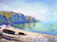 1882 Claude Monet Boats on the beach at Pourville, Low tide