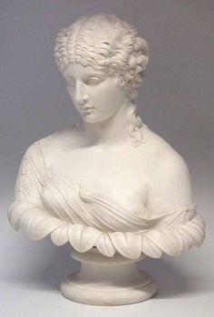 Busto de Clytie em Parian do sec.19th, 57cm de altura, 2,280 USD / 2,020 EUROS / 8,070 REAIS / 14,720 CHINESE YUAN soulcariocantiques.tictail.com
