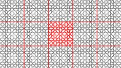 The tile pattern marked in red is easily recognizable, the puzzle is decoded, and the perception of complexity is lost, along with the grandness of an art form that, in such case, is grossly diluted.