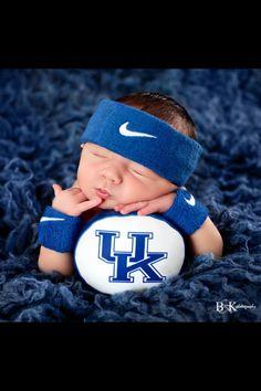 Newborn college basketball photo shoot