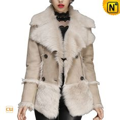 Women Toscana Leather Shearling Jacket CW640211 $1685.89 - www.cwmalls.com