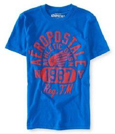 Aeropostale Mens Wing Explosion Graphic T-Shirt - Vulcinity