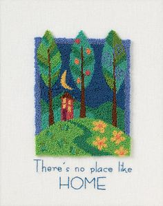 """73401 There'S NO Place Like Home Punch Needle KIT 8x10""""   eBay"""