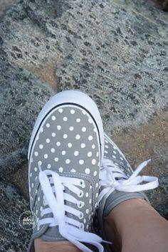 DIY polka dot shoes