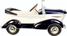 Blue & White Sharknose Graham Pedal Car By The Ame