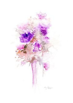 fine art flowers watercolor abstract painting purple bouquet still life printable wall art ome design gift for her handmade watercolor print 4,20 $ wall art ome design gift for her handmade watercolor print ------------------------------------------------------------------------------------------------------------- This listing is for a high resolution INSTANT DOWNLOAD JPEG file of my ORIGINAL WATERCOLOR PAINTING INSTANT DOWNLOAD – files are available immediately after purchase. Please note…