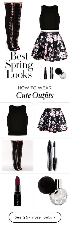 """""""Cute and affordable outfit for spring or summer!!"""" by longlivefashionistas on Polyvore featuring H&M, River Island, Lancôme, Smashbox, women's clothing, women, female, woman, misses and juniors"""