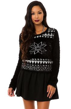 The Snowflake Fuzzy Sweater by *MKL Collective