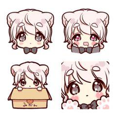 Emoji of a cute cat ear boy. Chibi Boy, Cute Anime Chibi, Kawaii Anime, Anime Cat Ears, Kawaii Chan, Chibi Sketch, Boy Cat, Emoji Stickers, Anime Expressions