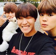 V, J-Hope, and Jimin BTS