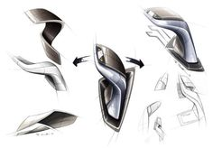 BMW Vision EfficientDynamics, Design Sketch Interior, Gear Shift Lever (08/2009)