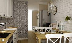 Kuchnia metamorfoza w stylu prowansalsko skandynawskim - Średnia otwarta kuchnia jednorzędowa w aneksie, styl prowansalski - zdjęcie od Grafika i Projekt architektura wnętrz
