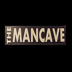 Mancave Sign, Wood Sign Quote,  Large Wood Sign,  Rustic Wood Sign, Man Cave Decor, Larger Wooden Sign, Personalized Sign by MorningWoodStudio on Etsy