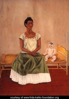 Self Portrait On Bed - Frida Kahlo - www.frida-kahlo-foundation.org
