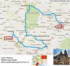 Mapa de la ruta que hicimos en el viaje a Midi-Pyrnénées (Francia) Aquitaine, France Travel, Toulouse, Road Trip, Places To Visit, Paris, Hiking, England, Camping