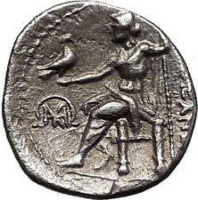ALEXANDER III the GREAT > Mylasa Caria < Hercules Zeus Silver Greek Coin i55974
