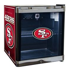 The Glaros Consumer Products cu. NFL Refrigerated Beverage Center is the perfect finishing touch for your entertainment space or sports den. Montreal Canadiens, Nhl, Beverage Refrigerator, Mini Fridge, Tempered Glass Door, Beverage Center, Led Light Strips, Houston Texans, Minnesota Vikings